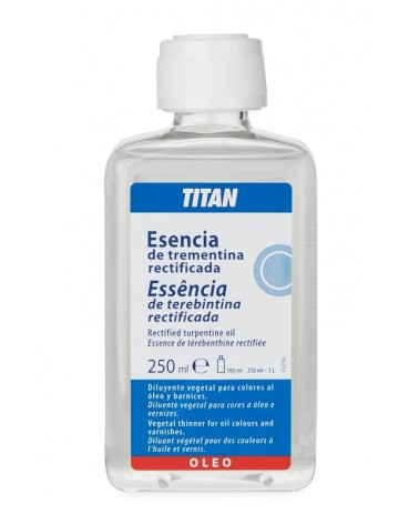 Esencia de trementina rectificada Titan 250 ml.