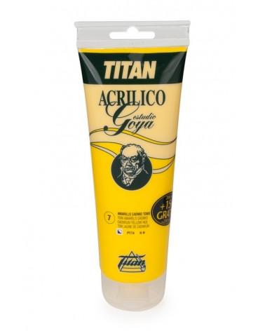 Acrílico Titan Goya color Amarillo Cadmio Limón numero 7