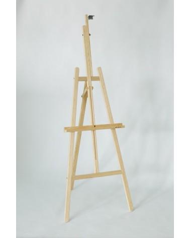 Caballete para pintar Pino Cadete Benlliure Desmontable con bandeja sencilla y de madera de pino.